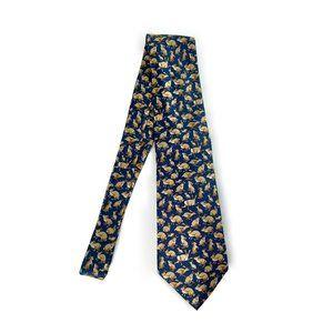 BURBERRYS Mens Silk Rabbit Figure Necktie